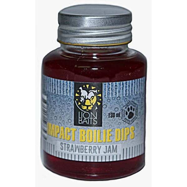 LION BAITS Impact Boilie Dips клубничный джем (Strawberry Jam) - 130 мл