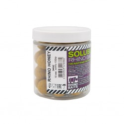 Бойлы растворимые насадочные Rhino Honey (мёд), 18мм, банка 150 грамм