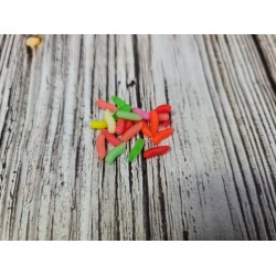 Опарыш 20шт. цветной, мягкий силикон