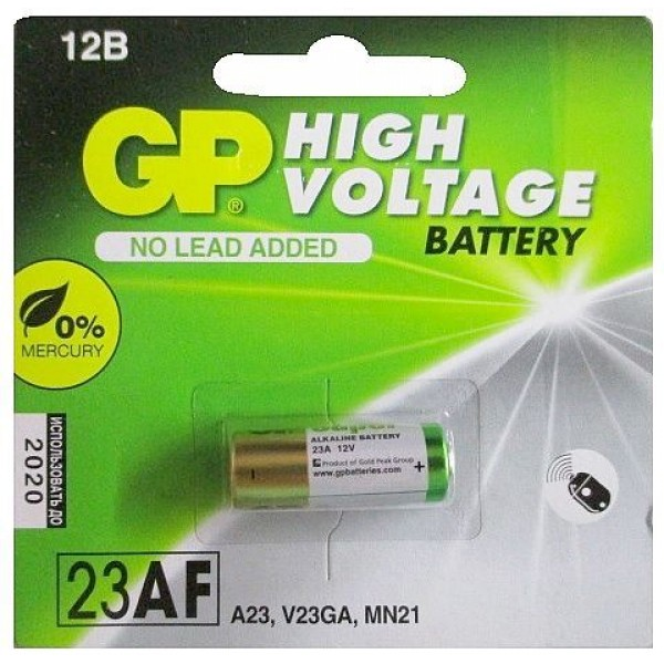 Батарейка для сигнализаторов YANG - GP Ultra Alkaline 23AF