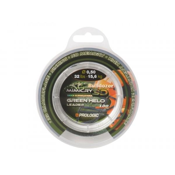 Шок-лидер Prologic Mimicry Green Helo Leader 100m 0.50mm 15,6kg 32lbs зеленый