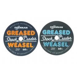 Drennan шок-лидер Greased Weasel 40м 50lb серый