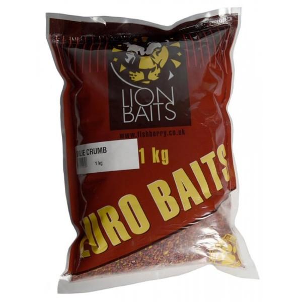 LION BAITS Бойловая крошка крупная (Boilie Crumb) серии EURO BAITS - 1 кг