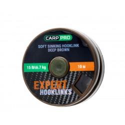 Мягкий поводковый материал без оплетки Carp Pro 15lb 10м коричневый