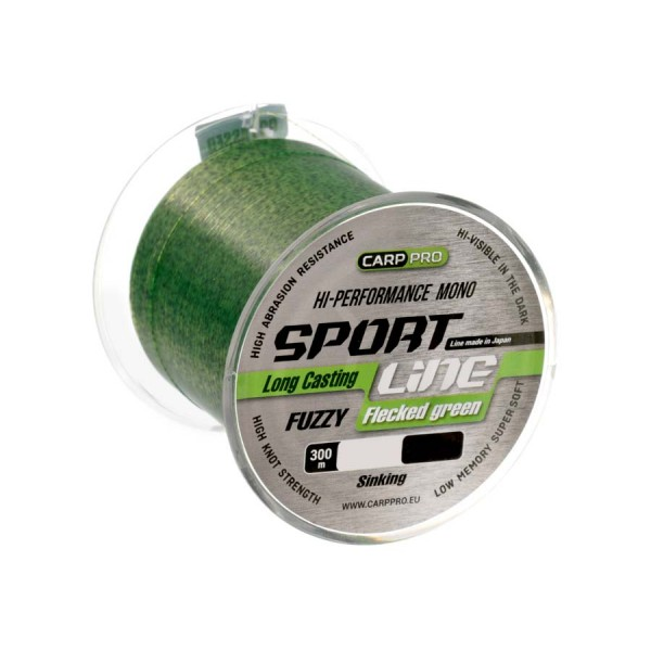 Леска Carp Pro Sport Line Flecked Green 300м 0.335мм