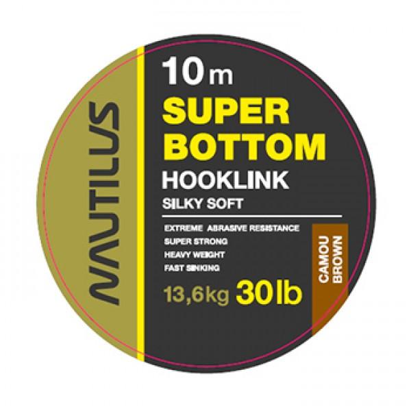 Поводковый материал Nautilus Super Bottom 30lb 10м Camou Brown