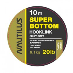 Поводковый материал Nautilus Super Bottom 20lb 10м Camou Green