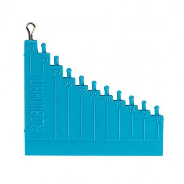 Инструмент для измерения длины волоса синий с затяжкой крючков