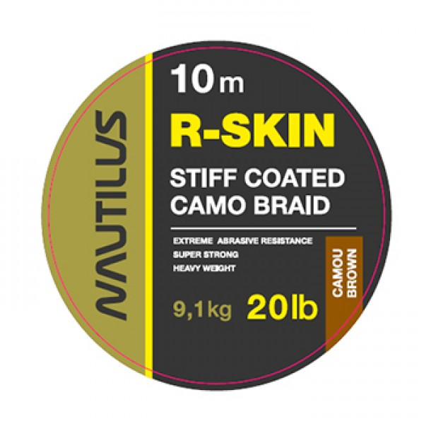 Поводковый материал Nautilus R-Skin 20lb 10м Camou Brown