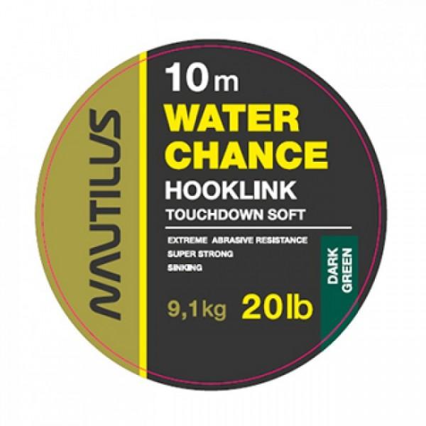 Поводковый материал Nautilus WaterChance 20lb 10м Dark Green