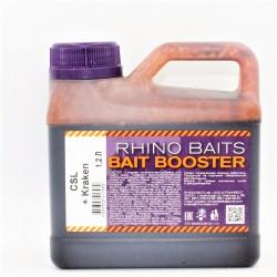 Ликвид Rhino Baits Baits Booster Liquid Food CSL + Kraken (кукурузный ликер + кальмар и фрукты), канистра 1,2 литра