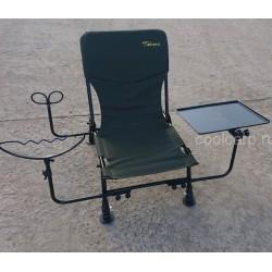 Кресло фидерное с насадочным столиком и креплением под удилище