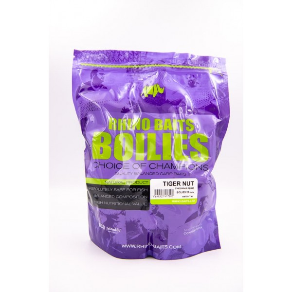 Бойлы Rhino Baits Tiger nut (тигровый орех) 20 мм, пакет 1 кг