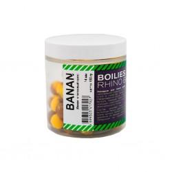 Бойлы нейтральной плавучести Rhino Baits Banana (банан и тигровый орех), 14 мм, банка 100 грамм