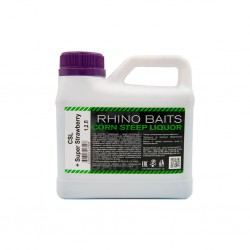 Ликвид Rhino Baits Baits Booster Liquid Food CSL + Super Strawberry (кукурузный ликер + супер клубника), канистра 1,2 литра