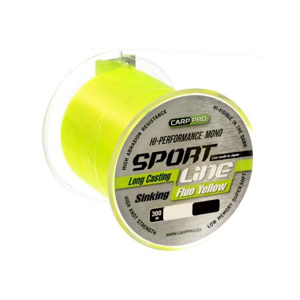 Леска Carp Pro Sport Line Fluo Yellow 300м 0.286мм