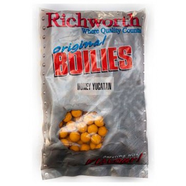 Richworth бойлы Original Honey Yucatan (Мёд) 400г 20 мм
