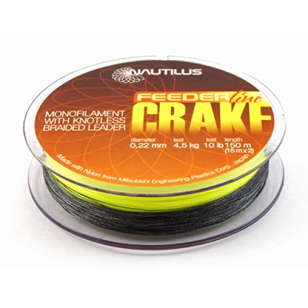 Леска 150м. + 2 шок лидера NAUTILUS CRAKE+SHOCK LEADER F.Y. 150m D-0.20mm 3.6кг