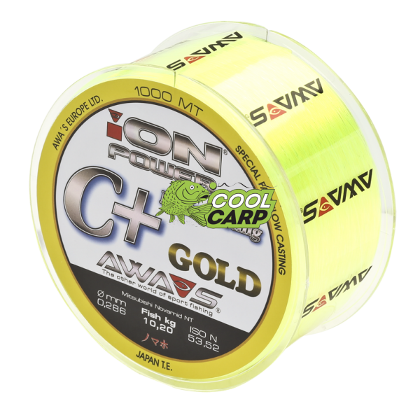 КАРПОВАЯ ЛЕСКА AWA'S ION POWER C+ HYPER CASTING GOLD AWA'S 4,76кг