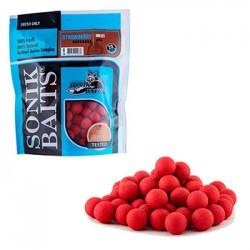 Бойлы тонущие Sonik Baits 20мм Strawberry (клубника) 750гр