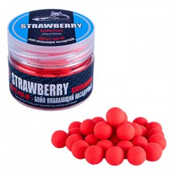 Бойлы плавающие Sonik Baits 14мм Strawberry (клубника) банка 90мл