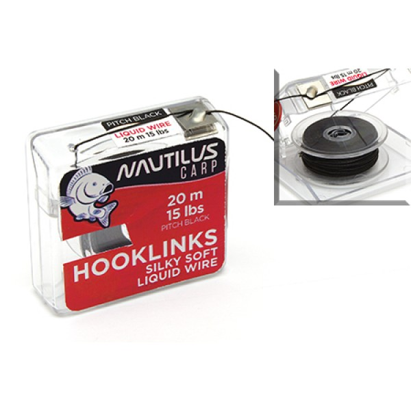 Поводковый материал Nautilus Silky Soft Liquid Wire 15lb 20м Pitch Black
