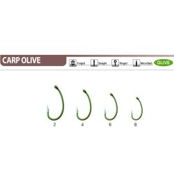 Крючок CAIMAN Carp Olive №6 ( уп. 10шт.) KURV SHANK