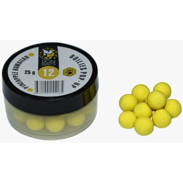 LION BAITS бойл (pop-up) 12 мм ананас Гавайский (Pineapple Hawaiian) - 25 гр