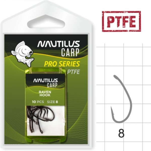 Крючок Nautilus Pro Series Raven Hook PTFE #6