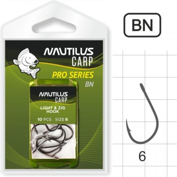 Крючок Nautilus Pro Series Light&Zig Hook BN #6