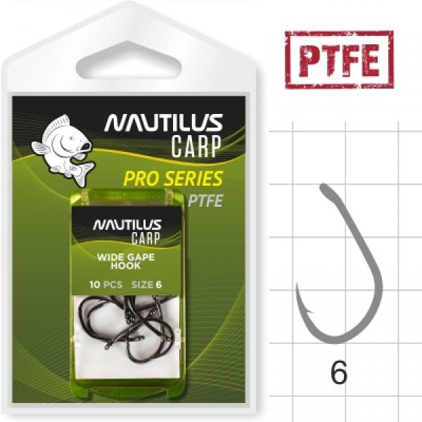 Крючок Nautilus Pro Series Wide Gape Hook PTFE #6