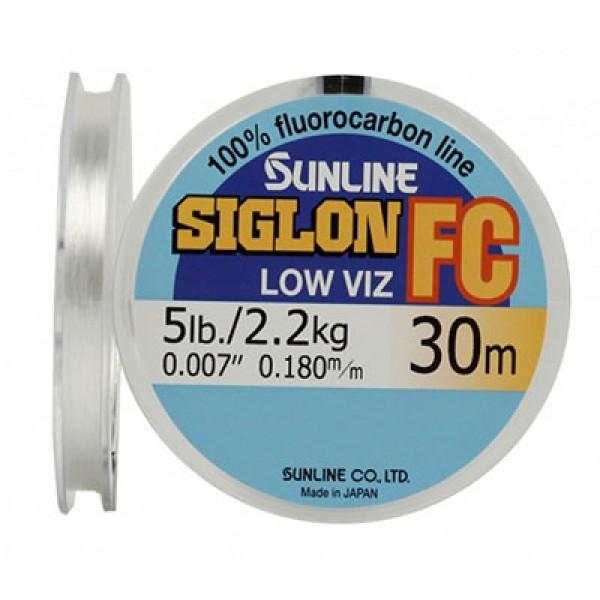 Леска флюорокарбон SIG-FC 30м D-0.290мм 5,4кг поводковый
