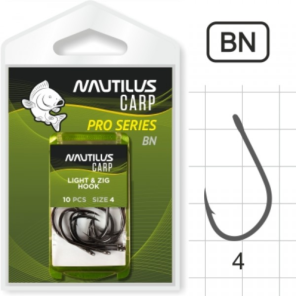 Крючок Nautilus Pro Series Light&Zig Hook BN #4