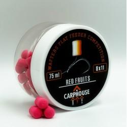 """Бойлы нейтральной плавучести Wafters Flat Feeder Competition 11*8 мм """"Red Fruits """" Красные фрукты"""