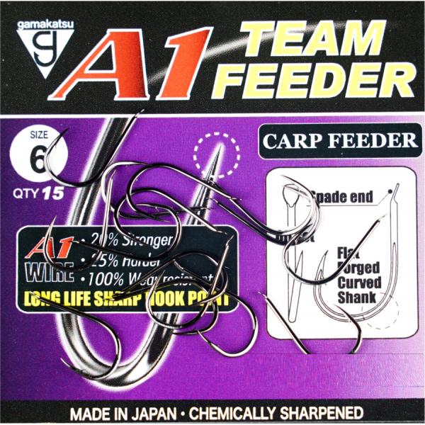 Крючки GAMAKATSU A1 TEAM FEEDER CARP FEEDER размер 6