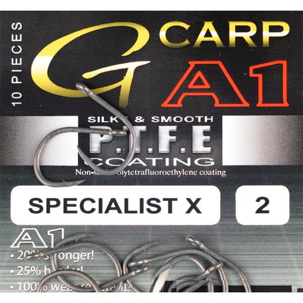 Крючки GAMAKATSU G-CARP A1 SPECIALIST X PTFE KP размер 6