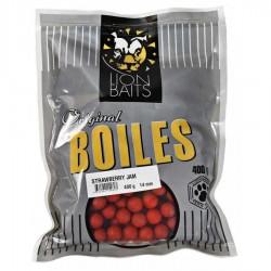 LION BAITS бойлы тонущие серии ORIGINAL 14 мм клубничный джем (Strawberry Jam) - 400 гр