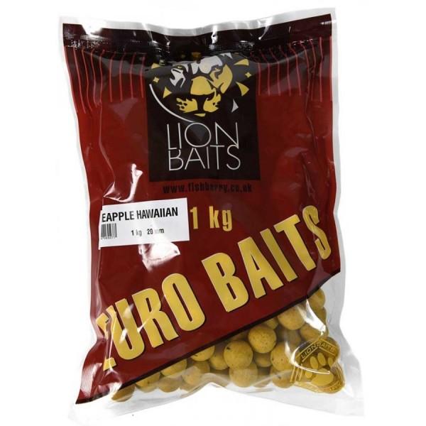 LION BAITS бойлы тонущие серии EURO BAITS 20 мм ананас Гавайский (Pineapple Hawaiian) - 1 кг