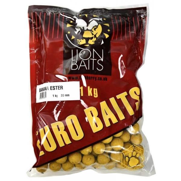 LION BAITS бойлы тонущие серии EURO BAITS 20 мм банановый эфир (Banana Ester) - 1 кг