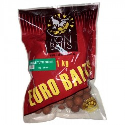 LION BAITS бойлы растворимые серии EURO BAITS 24 мм Тутти-Фрутти (Tutti Frutti) - 1 кг