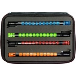 Набор 4 цветных гибких свингеров/батов в кейсе