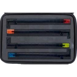 Набор 4 чёрных гибких свингеров/батов в кейсе