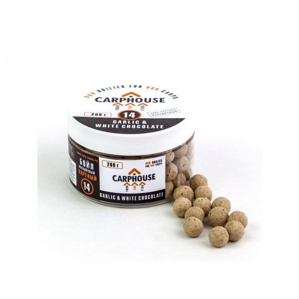Бойлы варенные Garlic&White chocolate Чеснок - Белый Шоколад 14 мм