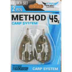 Методная Кормушка Mifine Method Carp System 45гр 2шт/уп Блистер