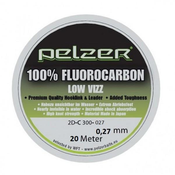 Поводочный материал Pelzer Flourocarbon 20m 0,27mm/12lbs