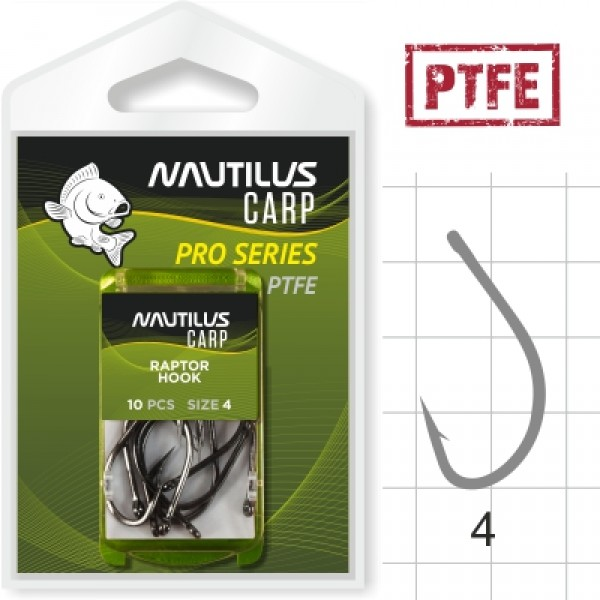 Крючок Nautilus Pro Series Raptor Hook PTFE #4