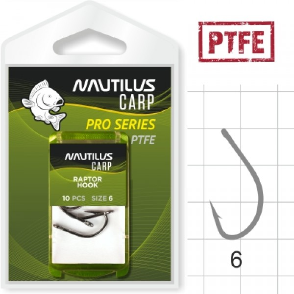 Крючок Nautilus Pro Series Raptor Hook PTFE #6