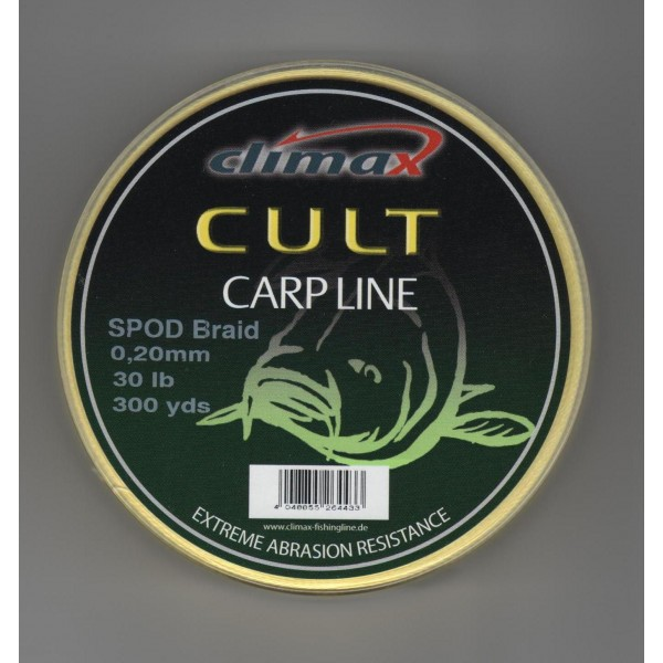 Шнур Сподовый Climax CULT SPOD BRAID 0,16mm 20lb 274м желтый