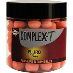 Бойлы плав.Dynamite Baits 15 мм. Fluro Pop-Ups & Dumbells — CompleX-T
