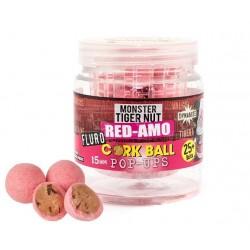 Бойлы Dynamite Baits Pink Red-Amo Fluro Cork Ball Pop-Ups 15мм